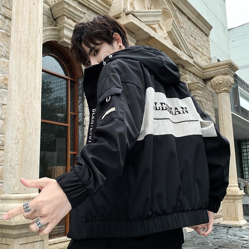 男士外套2019年春秋季新款韩版潮流上衣服夹克休闲工装潮牌褂子男