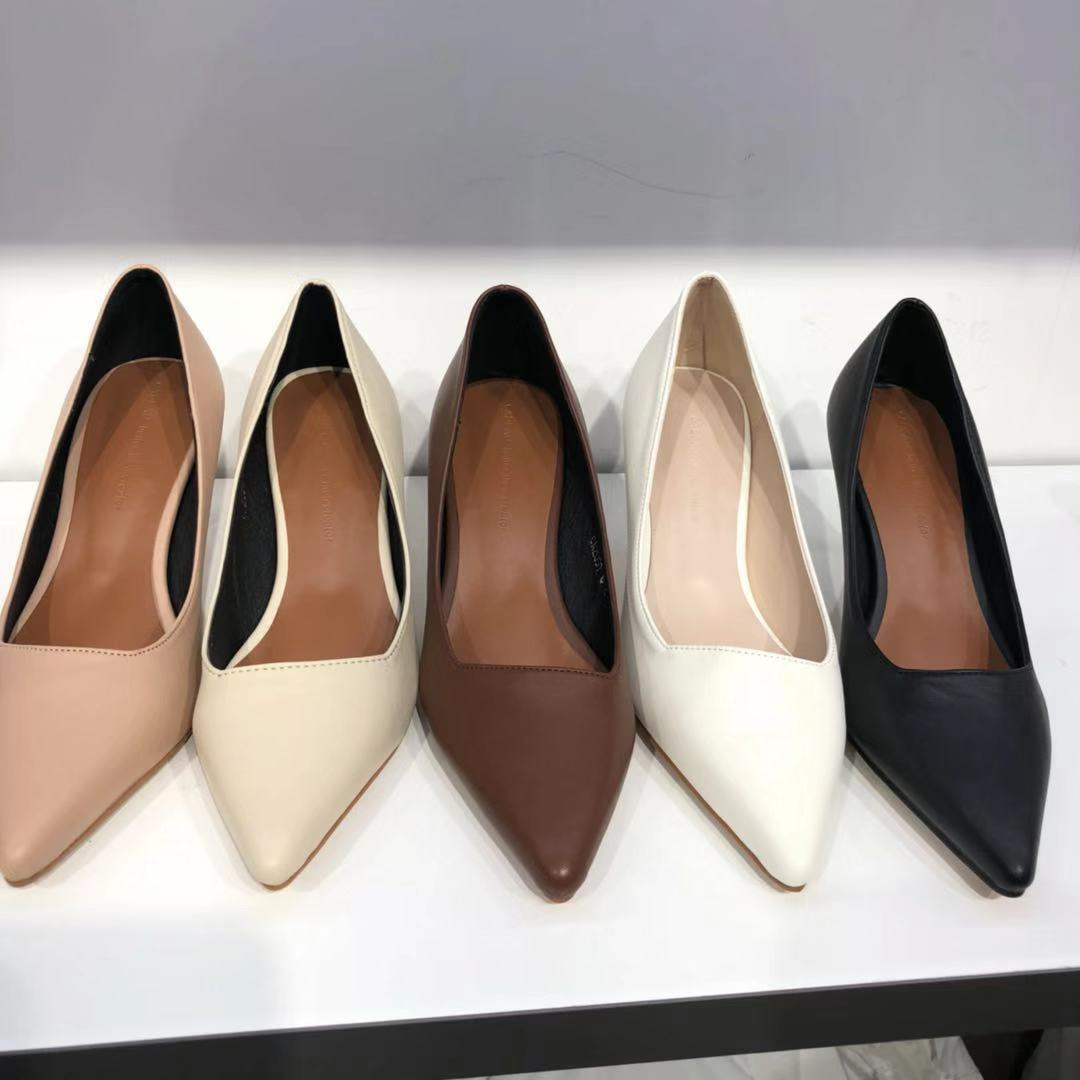 韩国东大门正品代购20春款尖头韩味细跟百搭舒适显瘦女高跟凉鞋