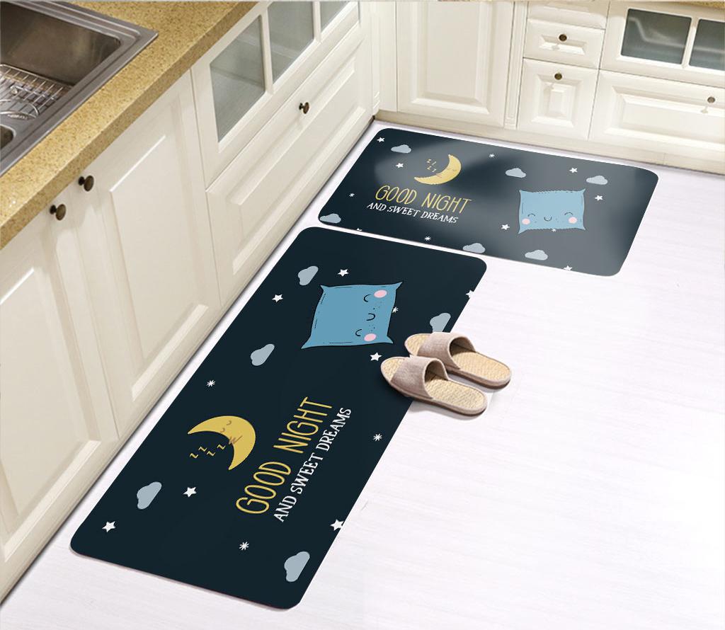 Kitchen floor mat water absorption and oil proof carpet foot mat door mat anti slip door mat foot mat household bedroom