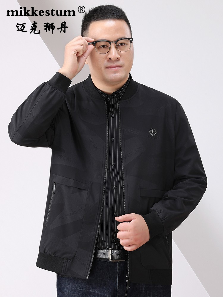 Counter famous products plus fat plus size loose jacket mens fat middle-aged business spring and autumn coat fat guy extra large