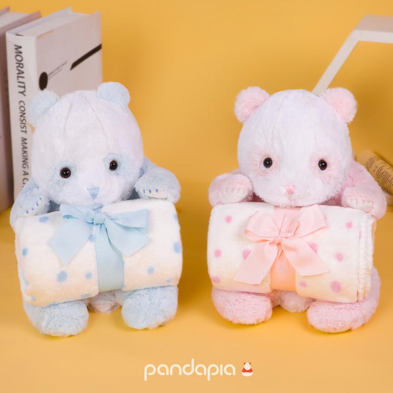 生日礼物原创生物形态毛绒玩偶毛毯抱毯熊猫伴伴pandapia