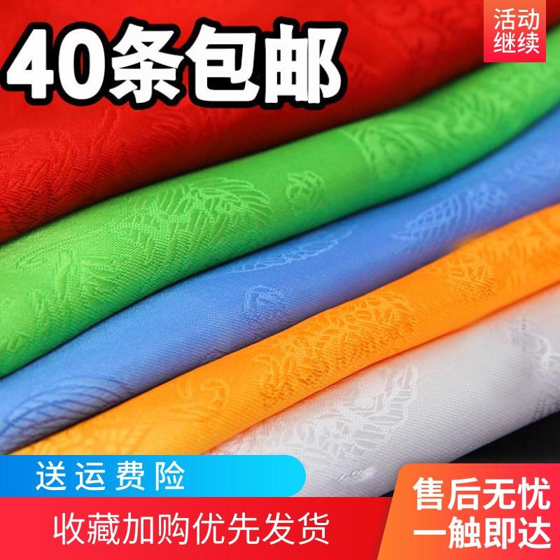 西藏提花龙凤哈达藏族吉祥饰品彩色礼仪用品佛教批量发150cm*23cm