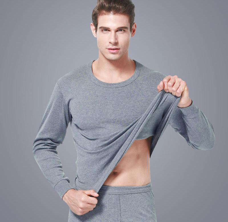 。保暖内衣男士内衣套装女士保暖内衣款全棉纯色基础打底衫秋衣秋