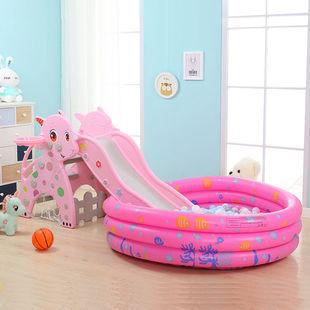 兒童滑梯嬰兒玩具寶寶小孩摺疊滑滑梯室內小型家用樂園遊樂場組合