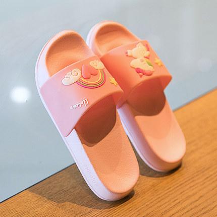 夏季可爱女童拖鞋亲子宝宝室内防滑软底洗澡小孩中大童儿童凉拖鞋