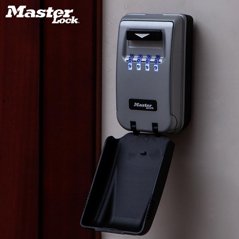玛斯特装修密码钥匙盒防盗门壁挂式猫眼夜光款家用门口密码锁5425