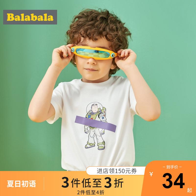 【玩具总动员IP款】巴拉巴拉童装儿童t恤男童夏装清仓正品宝宝潮