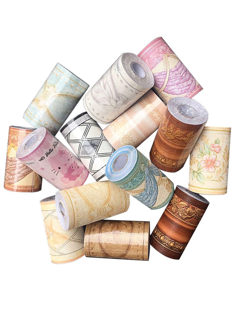 限3000张券自粘踢脚线房间装饰墙纸厨房客厅卫生间防水腰线防油贴纸温馨壁纸