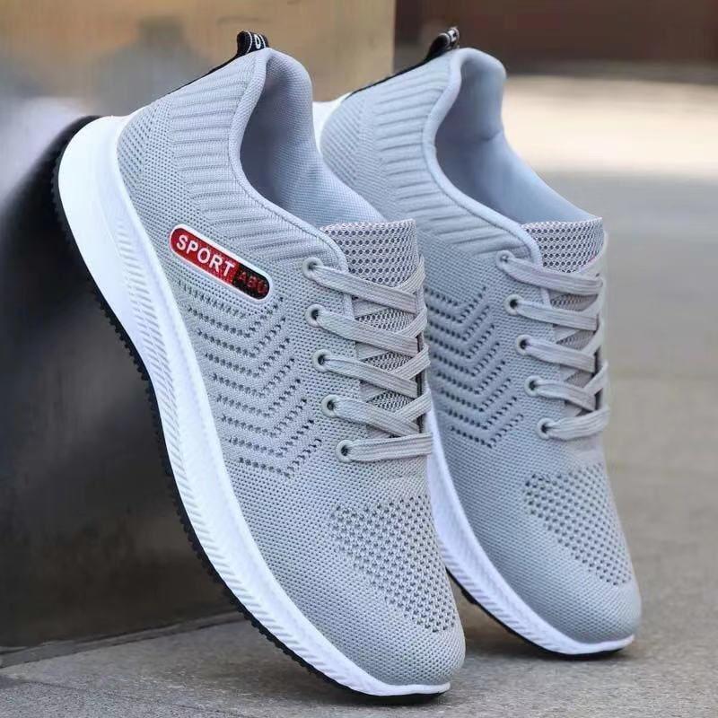 新款韩版休闲运动鞋运动网面跑步鞋舒适防滑休闲男鞋潮流百搭男鞋