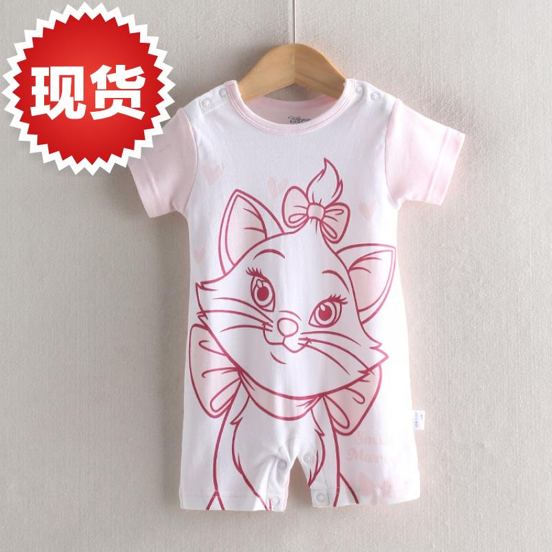[di] autumn new style Jumpsuit fine cotton 6 full open front baby childrens short sleeve Jumpsuit shorts