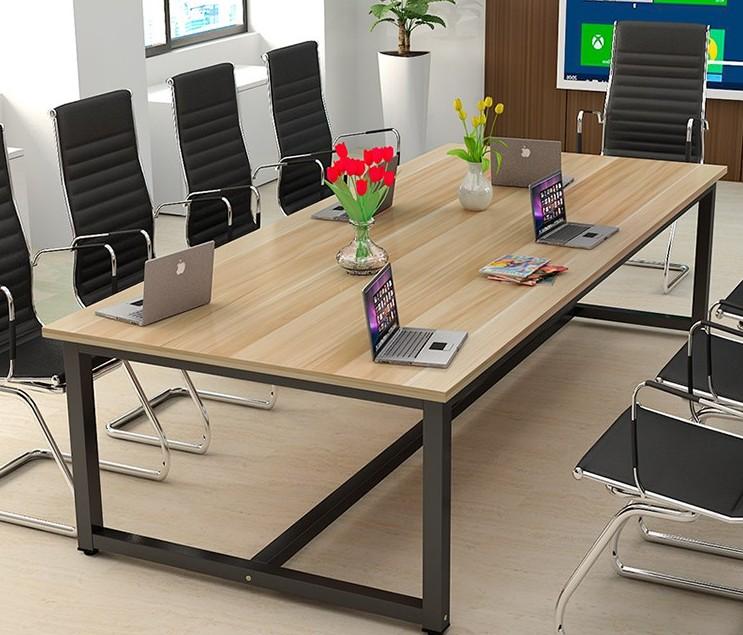 商业长条桌摆放员工办工烤漆钢架书房现代办公桌长桌办公家具职工