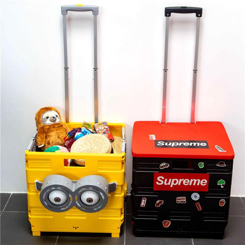 便携折叠购物车买菜车小拉车拉杆车爬楼小推车家用逛超市手推拖车