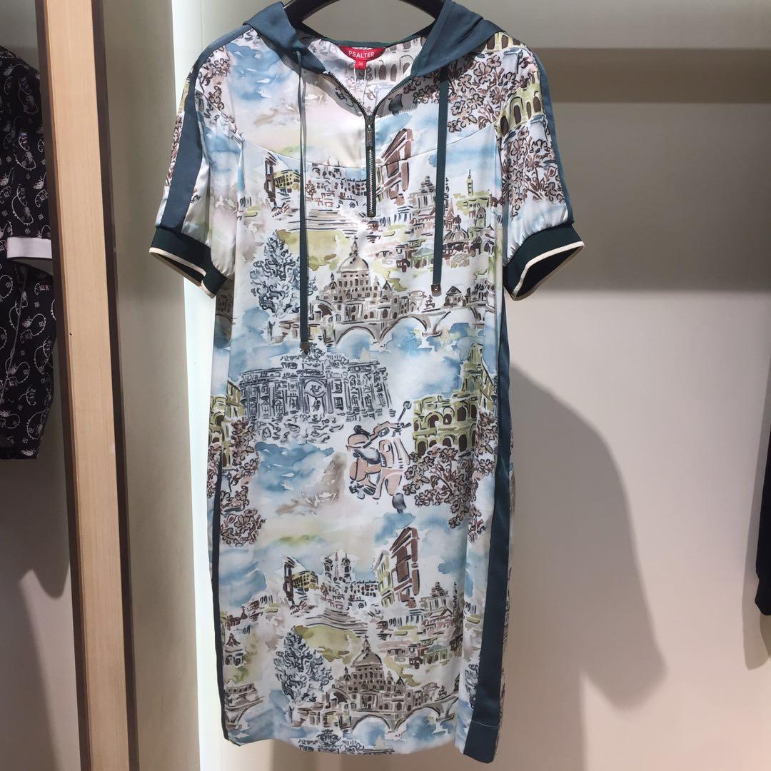 诗篇百魅专柜正品国内代购2020秋季新款女装连帽连衣裙6C30305240