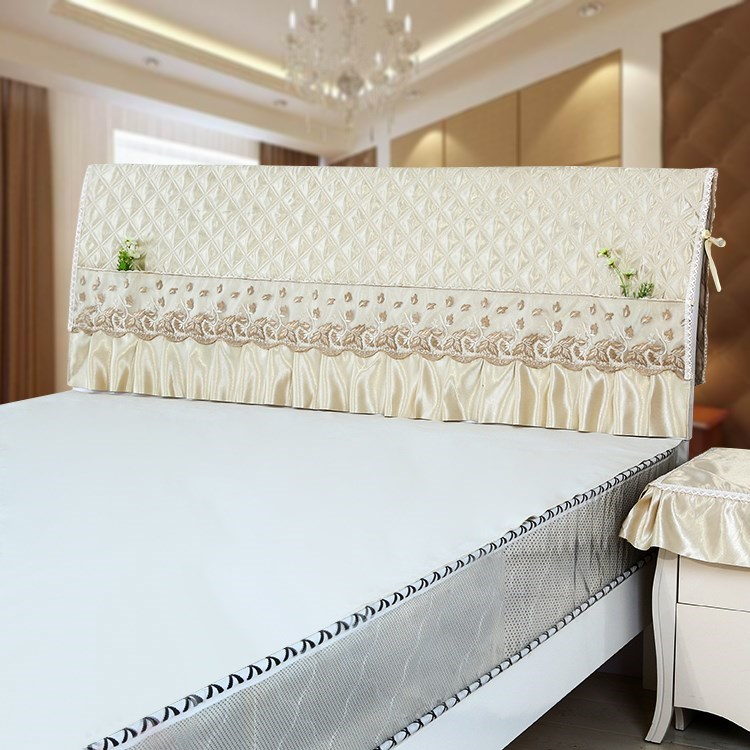 简约1.2米床头罩1.5米床头套1.8米罩2米床实木保护罩床头柜巾