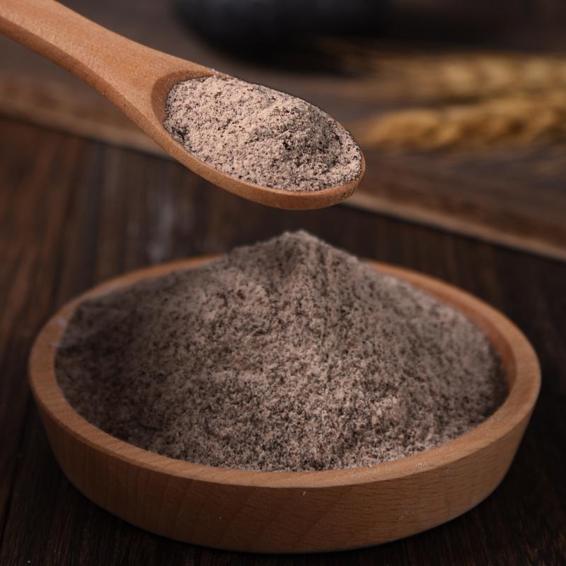 100馒头面包粉麦麸全麦面粉纯黑小麦%农家含黑*全麦粉5斤粗粮。