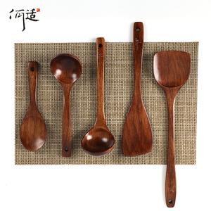 木铲子不粘锅专用家用耐高温炒菜的铲子木质锅铲长柄汤勺厨房套装