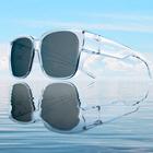 One&One 透明大镜框 近视偏光太阳镜 套镜 直接套在近视架上 178元包顺丰 免费试戴