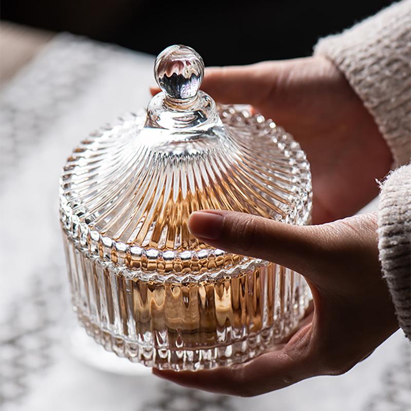欧式水晶玻璃糖果盅创意客厅首饰盒
