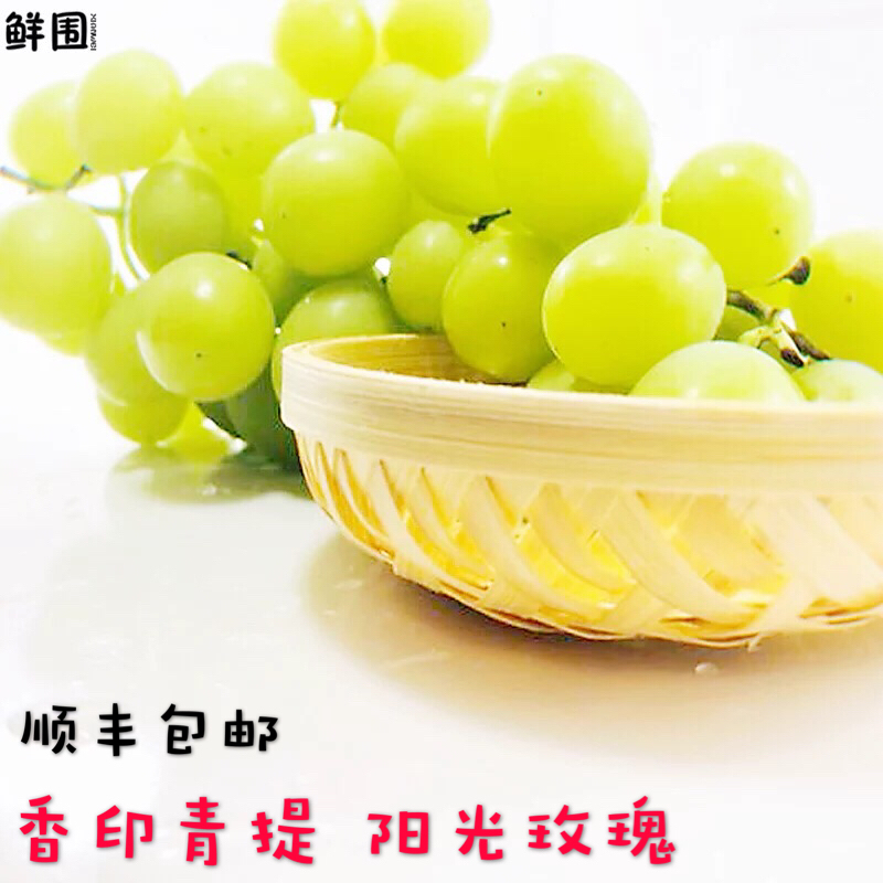 现摘青幻阳光玫瑰葡萄新鲜香印青提有籽提子日本晴王顺丰包邮3斤