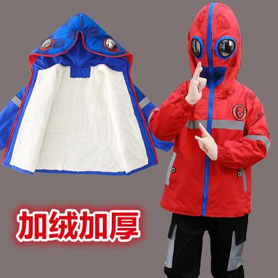 男童套装秋冬2020新款童装洋气蜘蛛侠加绒儿童韩版宝宝两件套大童
