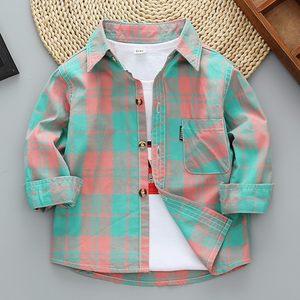 男女童衬衫长袖纯棉春秋装儿童衬衣洋气中小童2019新款男孩衬衫潮