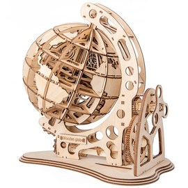 Wooden Globe Puzzle 3D DIY Mechanical Drive Model Transmiss图片