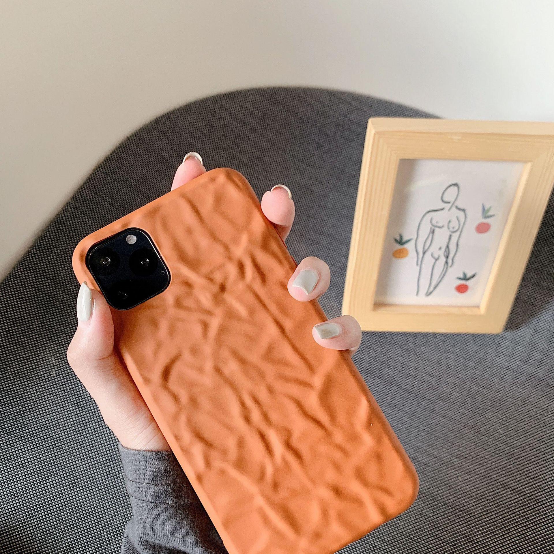 暖冬南瓜色适用苹果12手机壳iphone11Pro全包x/xsmax/xr/7/8软壳
