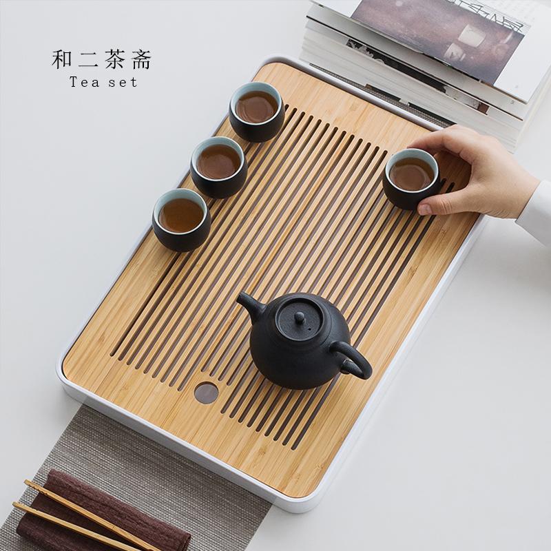 茶盘家用客厅小型竹子竹制现代简约创意日式简易功夫茶具托盘茶海