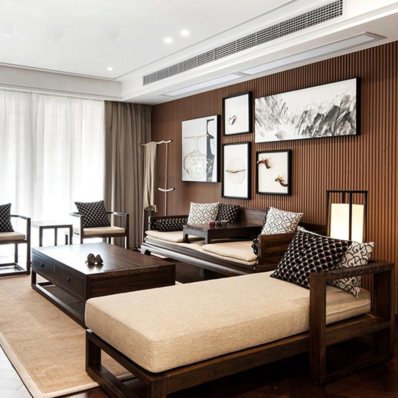券后2992.80元新中式实木沙发组合冬夏两用罗汉床