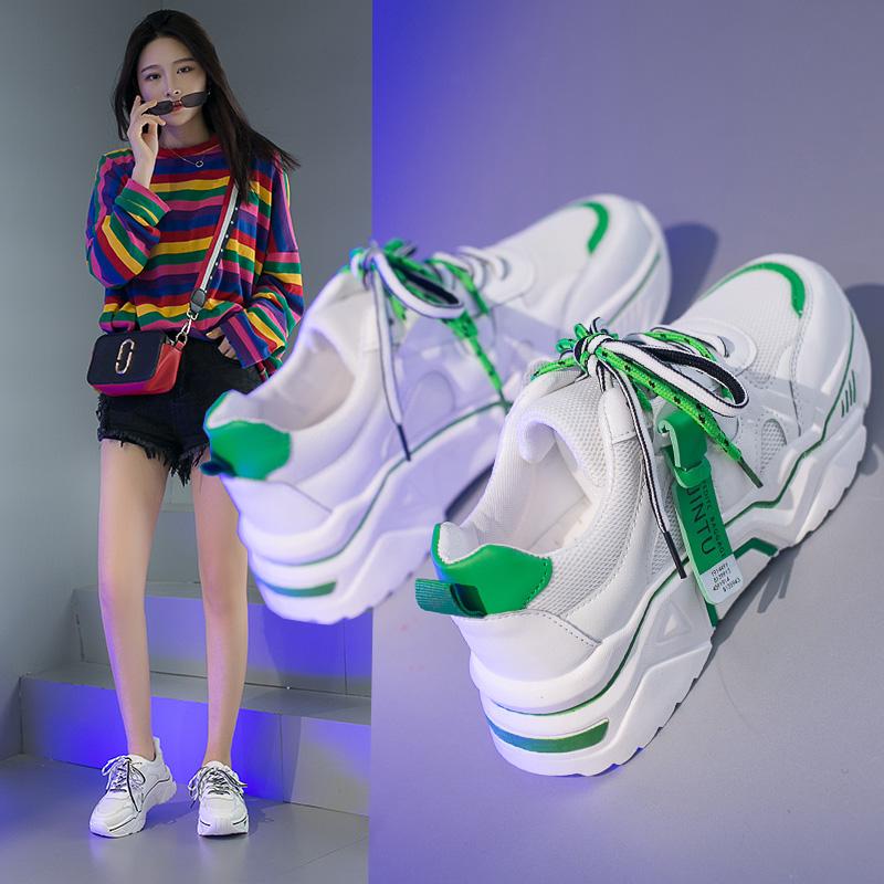 老爹鞋女2019夏季ins小白运动鞋百搭网红夏款网面鞋子女透气潮鞋