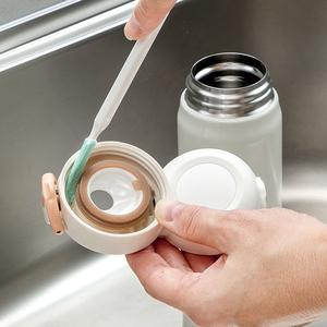 日本进口保温杯杯盖缝隙清洗刷奶瓶刷子清洁刷套装长柄水壶多功能