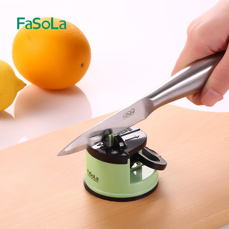日本家用菜刀磨刀石厨房神器定角快速剪刀磨刀器多功能厨房小工具