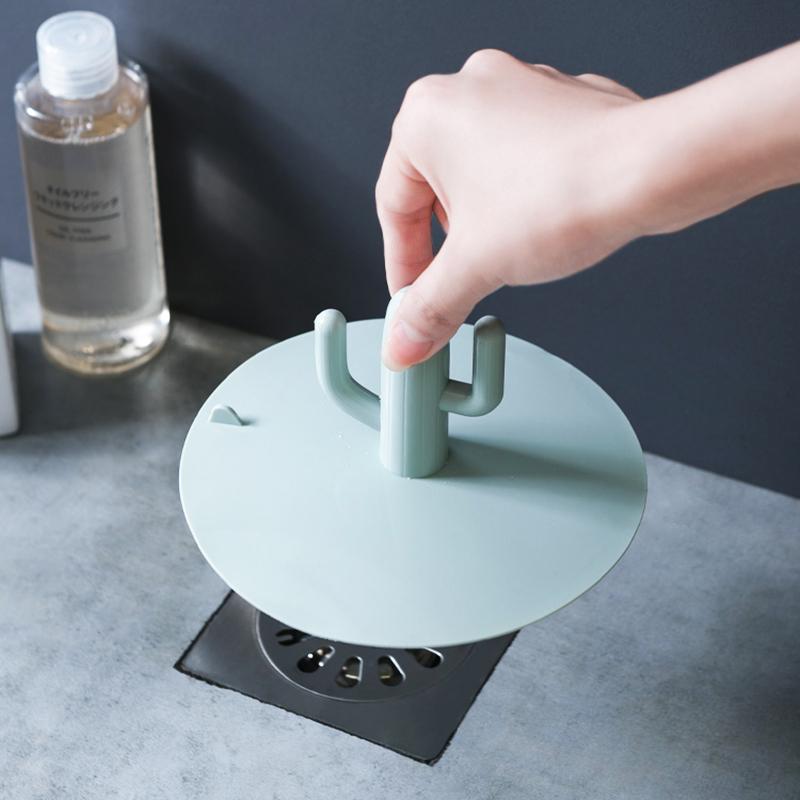 厨房地漏防臭器厕所卫生间下水道防臭盖防虫硅胶水池塞子堵水盖子