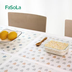 FaSoLa防水防油餐垫家用防烫餐桌垫隔热垫小学生儿童课桌卡通可爱