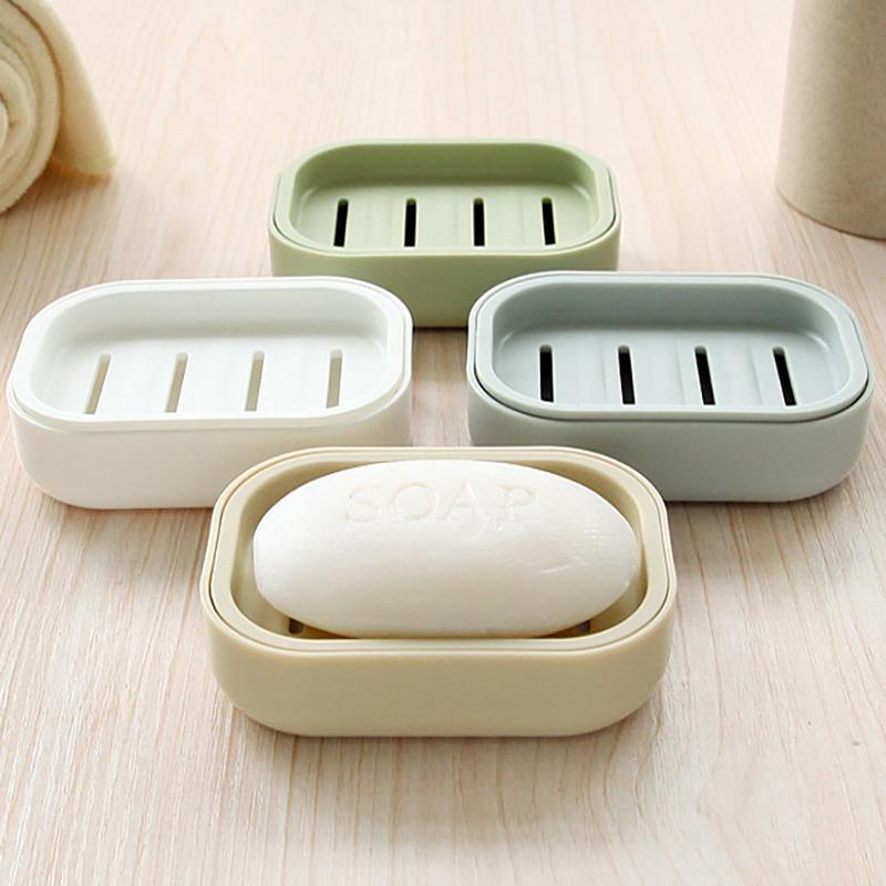 限50000张券创意浴室肥皂盒大号双层沥水香皂收纳盒塑料带盖洗衣皂置物架皂拖