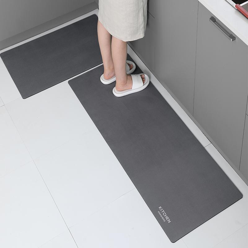 北欧厨房防滑防油家用耐脏地垫质量如何