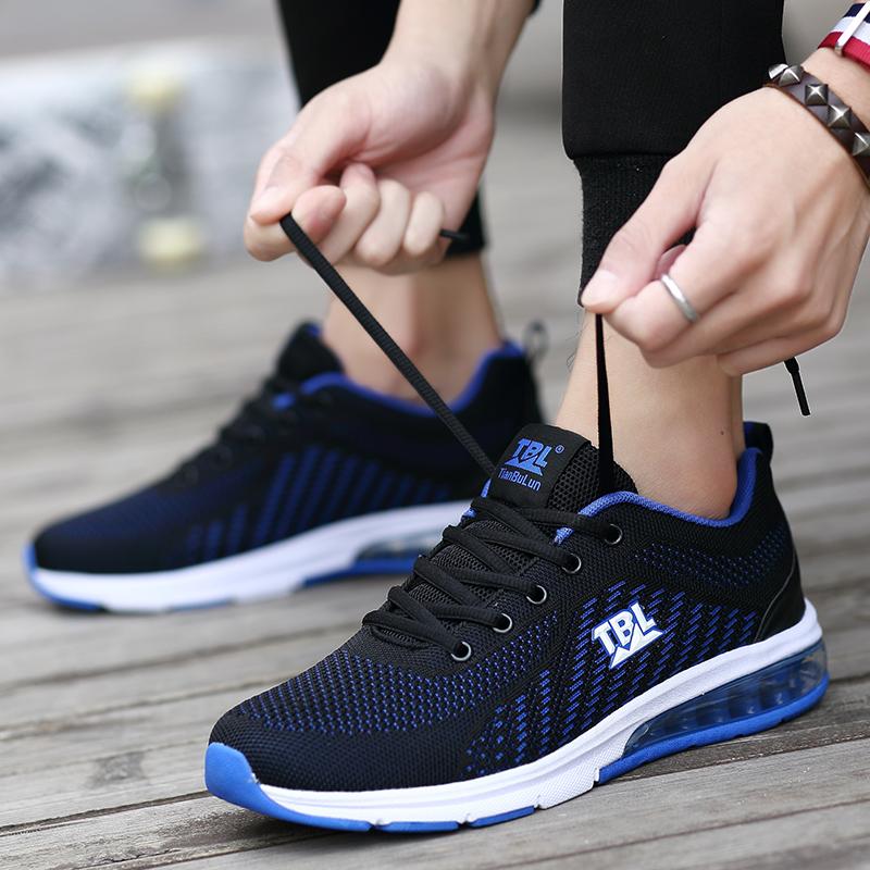 Gu Di Li Ning autumn flying mesh mens shoes deodorant shock absorption air cushion shoes mens breathable sports leisure travel shoes