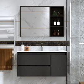 洗手池浴室柜陶瓷盆洗手盆小户型挂墙式面盆100cm落地式70cm家用图片