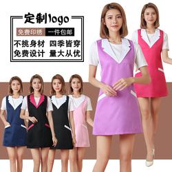 韩版时尚美容院美容师工作服围裙定制 背心式女款母婴美甲店围裙