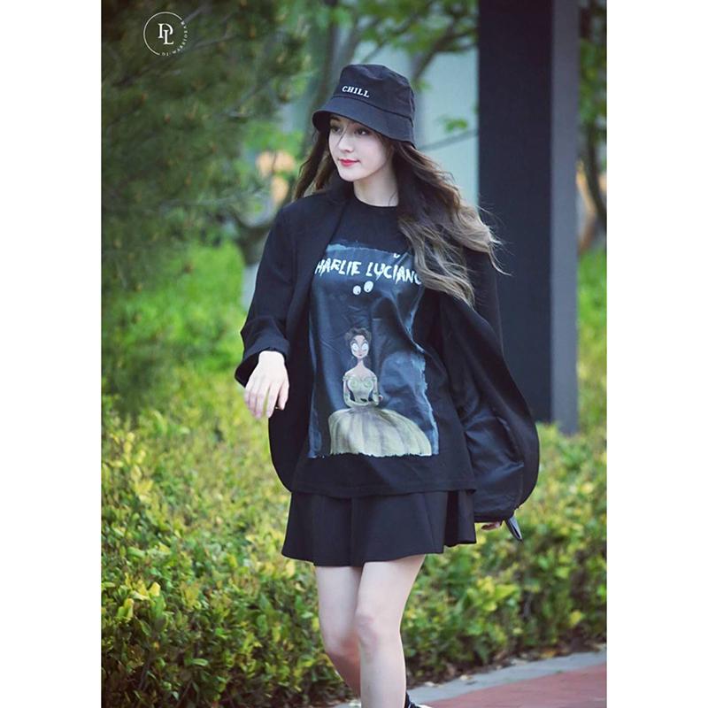 【海龟】Charlie Luciano CL 19SS美女与野兽插画印花男女短袖T恤