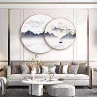 福临山水新中式水墨沙发客厅装饰画评价如何