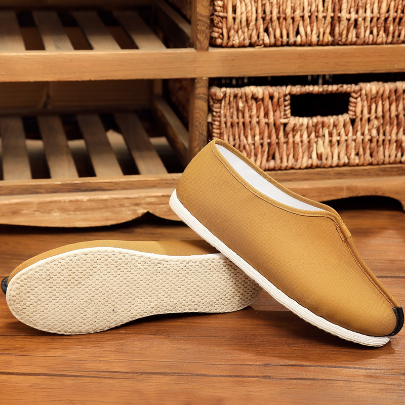 High grade pure handmade cloth shoes mens Beijing floor monk shoes Luohan shoes spring and autumn n youth middle-aged and elderly ethnic thousand mens luxury