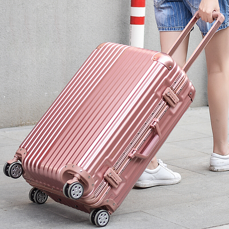 Aluminum frame trolley case universal wheel suitcase student suitcase 20 / 22 / 24 / 26 / 29 men and women boarding password box