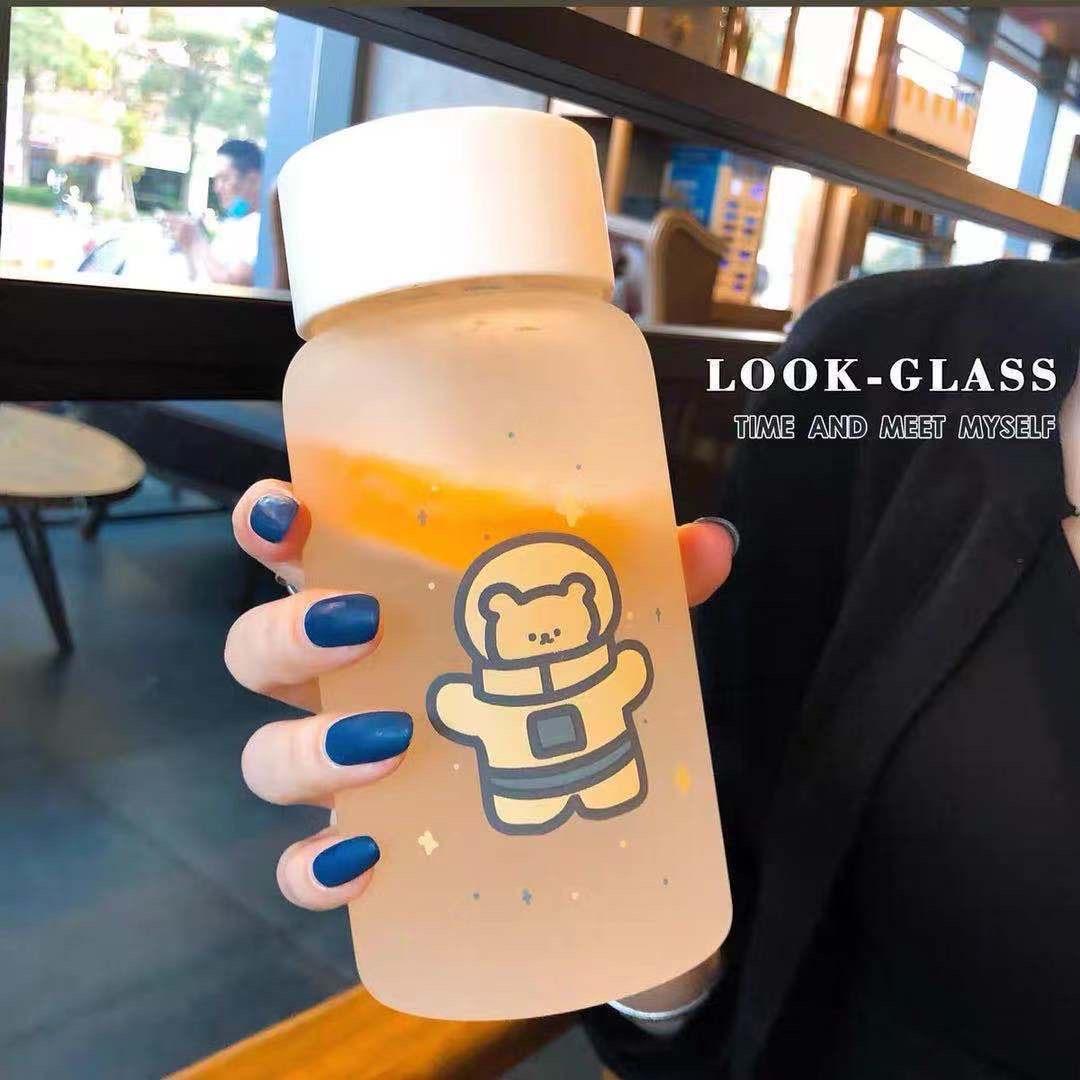 水杯女可爱清新磨砂森系个性塑料杯潮流少女简约便携网红创意杯子