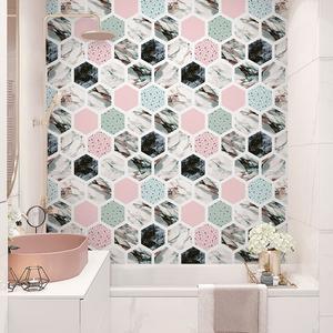 网红房间布置壁纸自粘墙贴厨房卫生间防水瓷砖贴纸装饰地贴地板贴