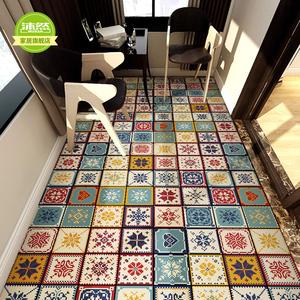 出租屋改造翻新防水墙贴卫生间地面耐磨地贴自粘墙面装饰瓷砖