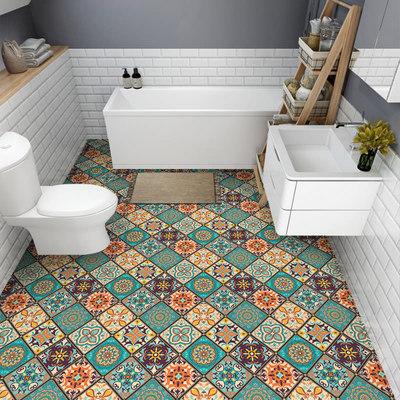 卫生间浴室瓷砖防滑防水贴纸厨房防油贴地面翻新地贴装饰自粘墙贴