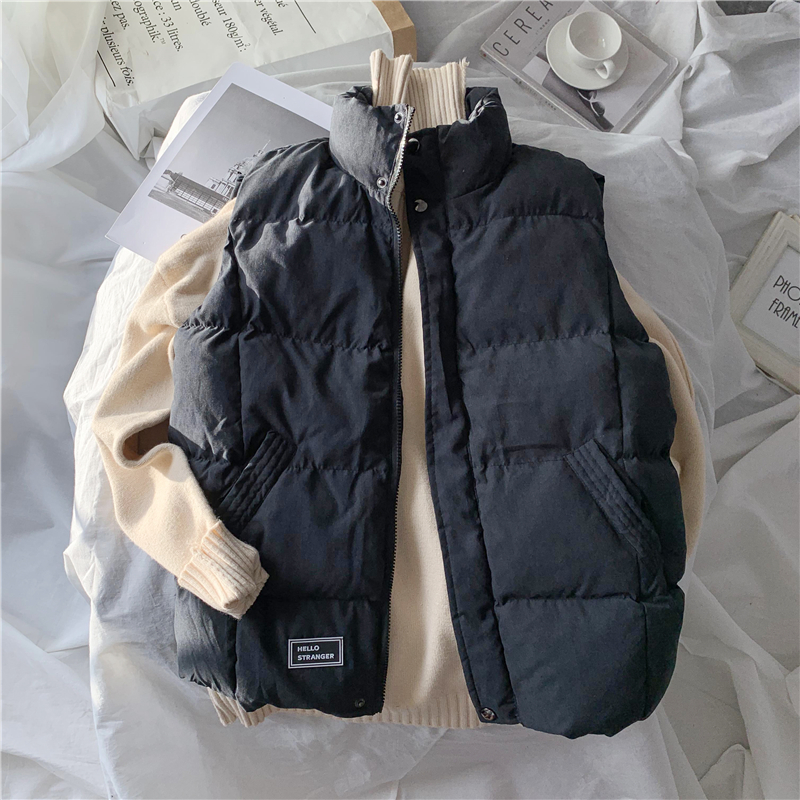 Men's vest autumn and winter down cotton style trend casual waistcoat warmth thickened outer wear men's jacket vest