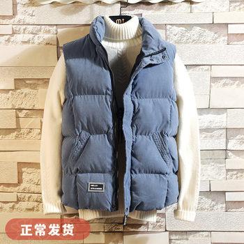 秋冬季韩版潮流男士修身学生棉马夹
