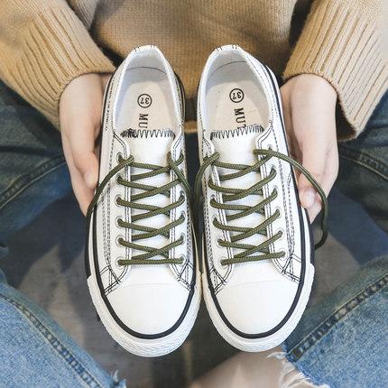 帆布女鞋韩版ulzzang学生百搭布鞋2019春季新款潮鞋春款小白板鞋